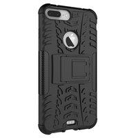 Shockproof bescherming hoesje iPhone 7 Plus 8 Plus case - Zwart