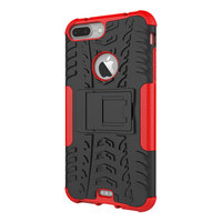 Shockproof bescherming hoesje iPhone 7 Plus 8 Plus case - Rood