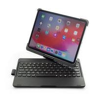 F360B 360 Graden Draaibaar Roterend ABS Bluetooth Keyboard Toetsenbord Case Hoes voor iPad Pro 11 inch - Zwart