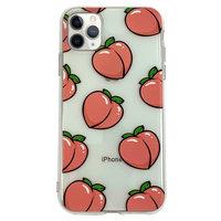 Perziken iPhone 11 Pro TPU hoesje - Transparant Roze Flexibel