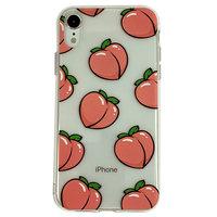 Perziken iPhone XR TPU hoesje - Transparant Roze Flexibel