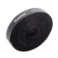 Baseus Klittenbandrol 3m - Zwart Kabelbinder