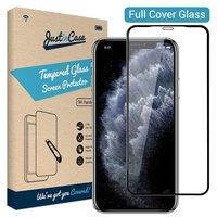 Just in Case Tempered Glassprotector iPhone 11 - Zwarte randen gebogen