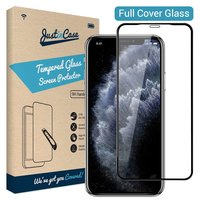 Just in Case Tempered Glassprotector iPhone 11 Pro - Zwart randen gebogen