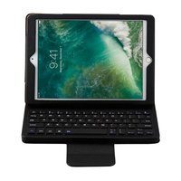 Just in Case Lederen Bluetooth Keyboard Case iPad 9.7 inch 2017 2018 - Zwart