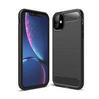 Just in Case hoesje beschermend carbon TPU iPhone 11 Case - Zwart