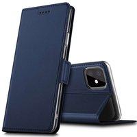 Just in Case Lederen Wallet Portemonnee iPhone 11 Bookcase Case Hoesje - Blauw