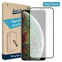 Just in Case Tempered Glassprotector Apple iPhone XS Max - Zwarte rand