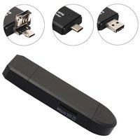 USB-C USB Micro USB Kaartlezer MicroSD - Zwart