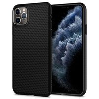 Spigen Liquid Air TPU iPhone 11 Pro Max Case - Zwart Driehoek