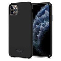 Spigen Silicone Fit iPhone 11 Pro Max Case Hoesje - Zwart Schokabsorberend