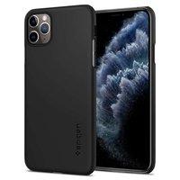 Spigen Thin Fit Kunststof iPhone 11 Pro Max Case - Zwart Dun Lichtgewicht