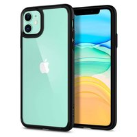 Spigen Ultra Hybrid TPU Polycarbonaat iPhone 11 Case - Zwart