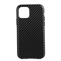 Carbon kunststof hoesje voor iPhone 12 mini - zwart