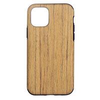 Wood Texture kunststof hoesje voor iPhone 12 en iPhone 12 Pro - bruin