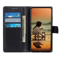 Wallet kunstleer hoesje voor iPhone 12 en iPhone 12 Pro - zwart