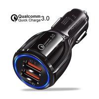 30Q Dual USB Sigarettenplug Autolader - Zwart Fast Charging