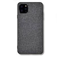 Cloth Texture stof en kunststof hoesje voor iPhone 12 en iPhone 12 Pro - grijs