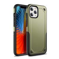 Pro Armor kunststof en schokabsorberend TPU hoesje voor iPhone 12 en iPhone 12 Pro - groen