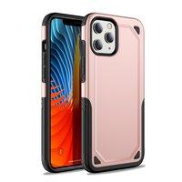 Pro Armor kunststof en schokabsorberend TPU hoesje voor iPhone 12 mini - roze