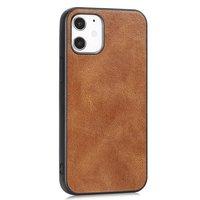 Leather Look kunstleer hoesje voor iPhone 12 mini - bruin