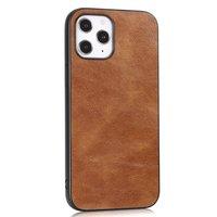 Leather Look kunstleer hoesje voor iPhone 12 Pro Max - bruin