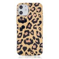 TPU luipaardenprint hoesje voor iPhone 12 mini - beige