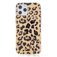 TPU luipaardenprint hoesje voor iPhone 12 en iPhone 12 Pro - beige