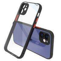 Clear kunststof hoesje voor iPhone 12 mini - transparant met zwart