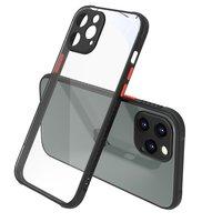 Clear kunststof hoesje voor iPhone 12 Pro Max - transparant met zwart