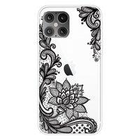 TPU henna bloemen hoesje voor iPhone 12 Pro Max - transparant