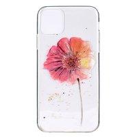TPU bloemen hoesje voor iPhone 12 en iPhone 12 Pro - transparant
