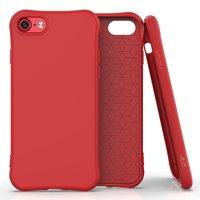 Soft case TPU hoesje voor iPhone 7, iPhone 8 en iPhone SE 2020 - rood