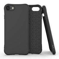 Soft case TPU hoesje voor iPhone 7, iPhone 8 en iPhone SE 2020 - zwart