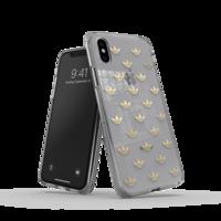 adidas Originals kunststof hoesje voor iPhone X en iPhone XS - transparant met goud