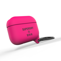 Superdry Airpod Cover Waterbestendige Siliconen hoes Airpods Pro - Roze
