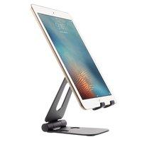 Universele Vouwbare Alloy Desktop Telefoonhouder Smartphone en tablet - Zwart