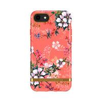 Richmond & Finch Coral Dreams bloemen hoesje voor iPhone 6, 6s, 7, 8 en SE 2020 - oranje