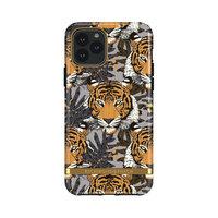 Richmond & Finch Tropical Tiger stevig kunststof hoesje voor iPhone 11 Pro - grijs met oranje