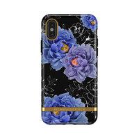 Richmond & Finch Blooming Peonies stevig hoesje voor iPhone 11 Pro - blauw / paars met zwart