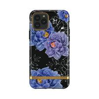 Richmond & Finch Blooming Peonies stevig kunststof hoesje voor iPhone 11 - blauw / paars met zwart