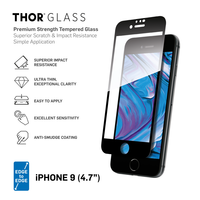 THOR E2E Glassprotector iPhone 6 6s 7 8 SE 2020 - Zwarte rand