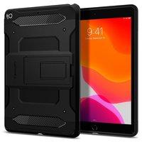 Spigen Tough Armor kunststof carbon Air Cushion hoesje voor iPad 10.2 inch (2020) - zwart