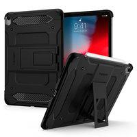 Spigen Tough Armor kunststof carbon met Air Cushion hoesje voor iPad Pro 11 inch (2020) - zwart