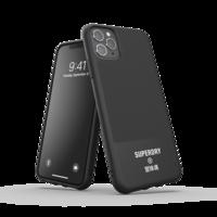 Superdry Moulded Case Canvas kunststof hoesje voor iPhone 11 Pro Max - zwart