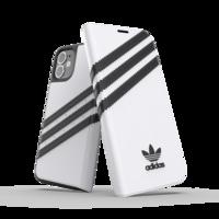adidas Originals kunstleer hoesje voor iPhone 12 mini - wit met zwart