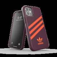 adidas Originals kunststof hoesje voor iPhone 12 mini - kastanjebruin met oranje