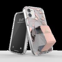 adidas Sport Grip kunststof hoesje voor iPhone 12 mini - transparant met roze