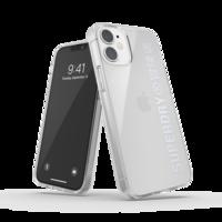 Superdry Snap Case Clear kunststof hoesje voor iPhone 12 mini - transparant zilver