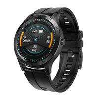Xqisit Smartwatch Gezondheidsfuncties en 6 sportfuncties - Zwart Metaal